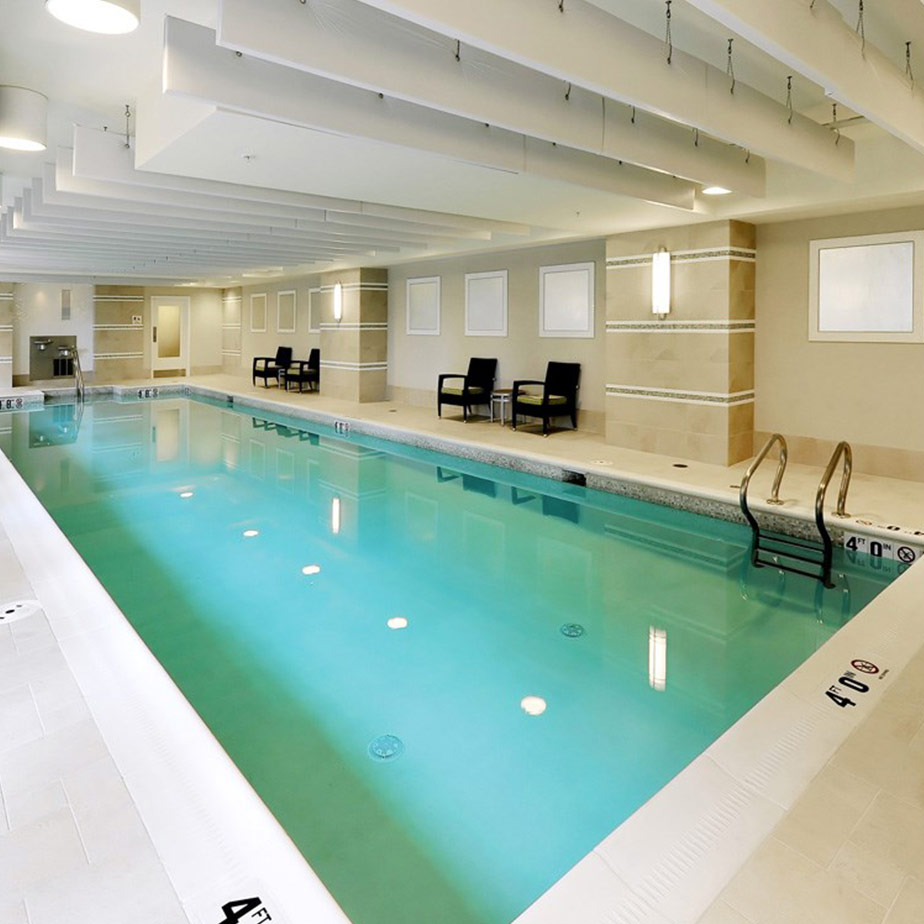 Lyon Place's indoor swimming pool